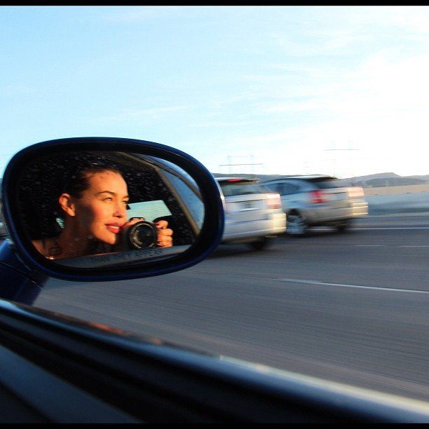 Megan Gale took a sweet moving snap during a car ride. Source: Instagram user megankgale