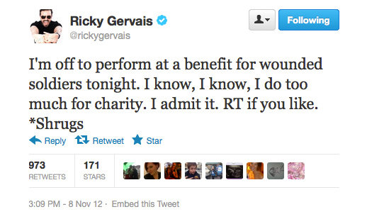 Saint Ricky Gervais — do you see it happening?