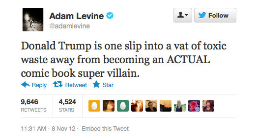 Sounds like Adam Levin just looooves Donald Trump.