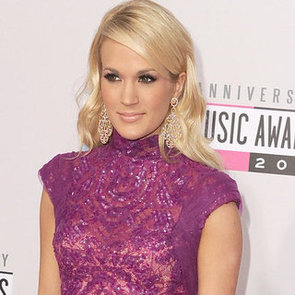 Carrie Underwood in Purple at the American Music Awards