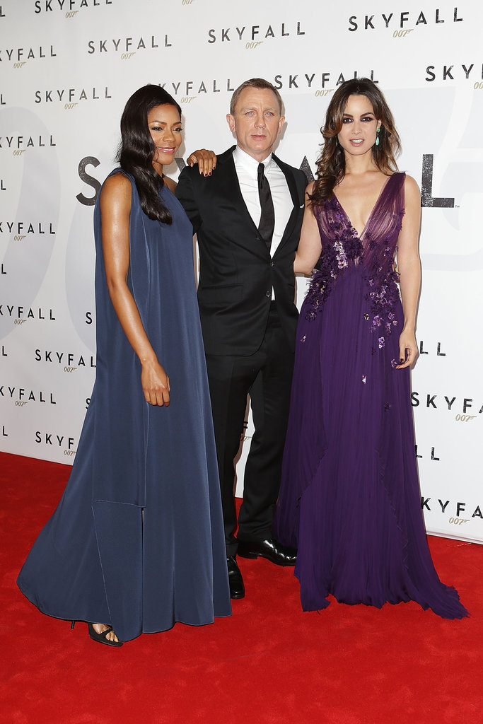 Naomie Harris, Daniel Craig and Berenice Marlohe hit the red carpet in Sydney on November 16, for the premiere of their new James Bond movie, Skyfall.