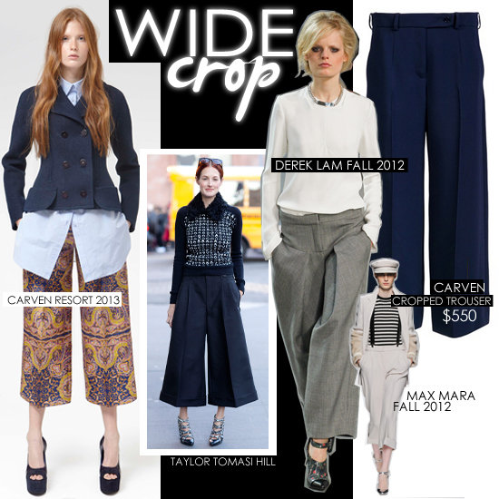 Fall 2012 Fashion Trends: Wide-Leg Cropped Pants