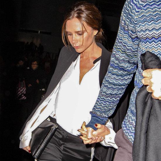 Victoria Beckham Wearing Tuxedo Pants