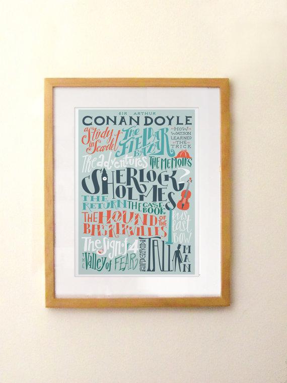 Arthur Conan Doyle Bibliography Print ($21)