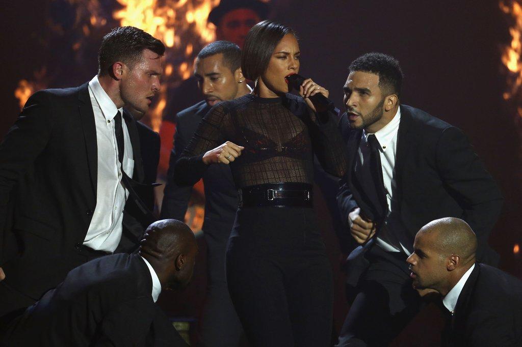 Alicia Keys performed at the awards in Frankfurt.