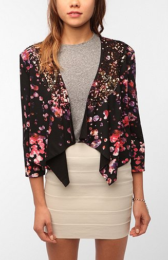 This Hazel Bedazzled Cropped Blazer ($129) has both brilliant color and a perfect amount of sparkle.