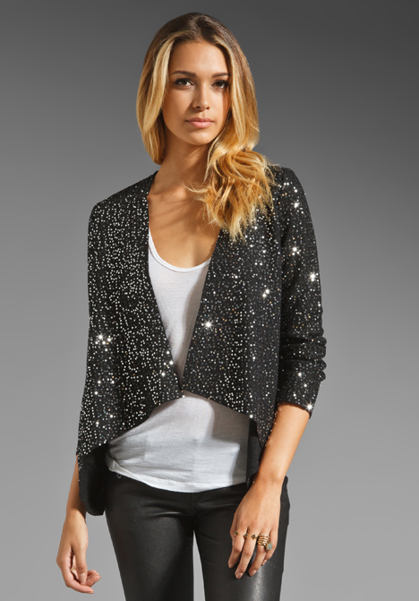 The brilliant sparkle on this BB Dakota Remi Sequin Wool Jacket ($127) looks almost like a starry night sky — and it could light up practically anything else you put on.