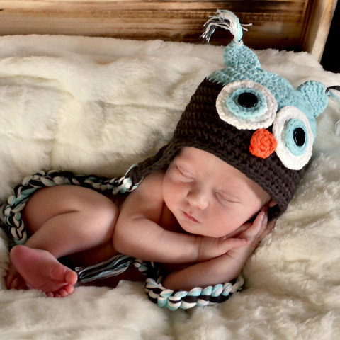 Melondipity Baby Owl Hat