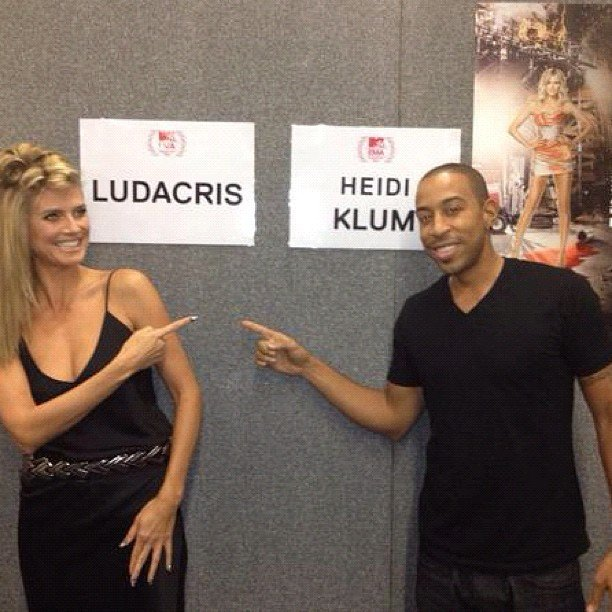 Heidi Klum and Ludacris palled around backstage at the MTV EMAs. Source: Instagram user itsludacris