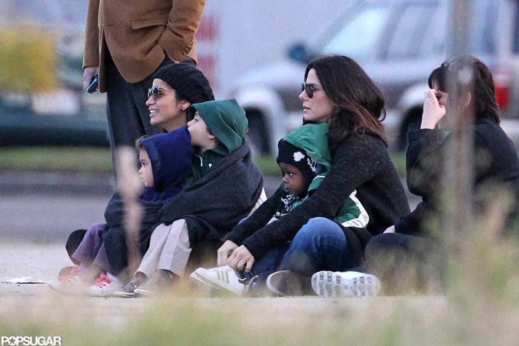 Sandra Bullock had Louis Bullock in her lap as she sat ... Sandra Bullock Children