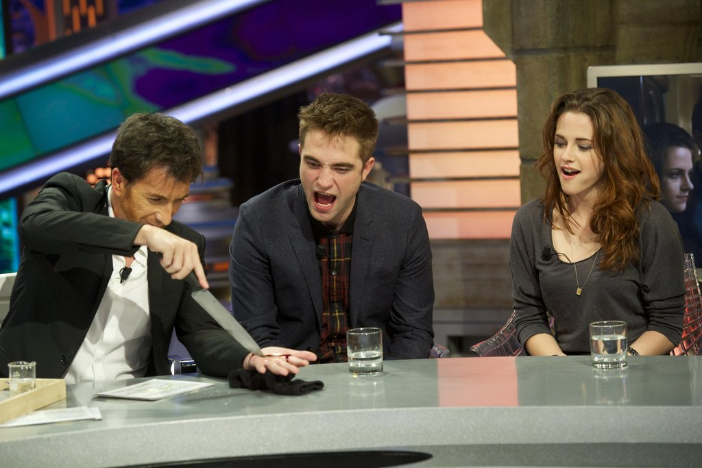 Kristen Stewart Goofs Off With Rob and Taylor in Madrid