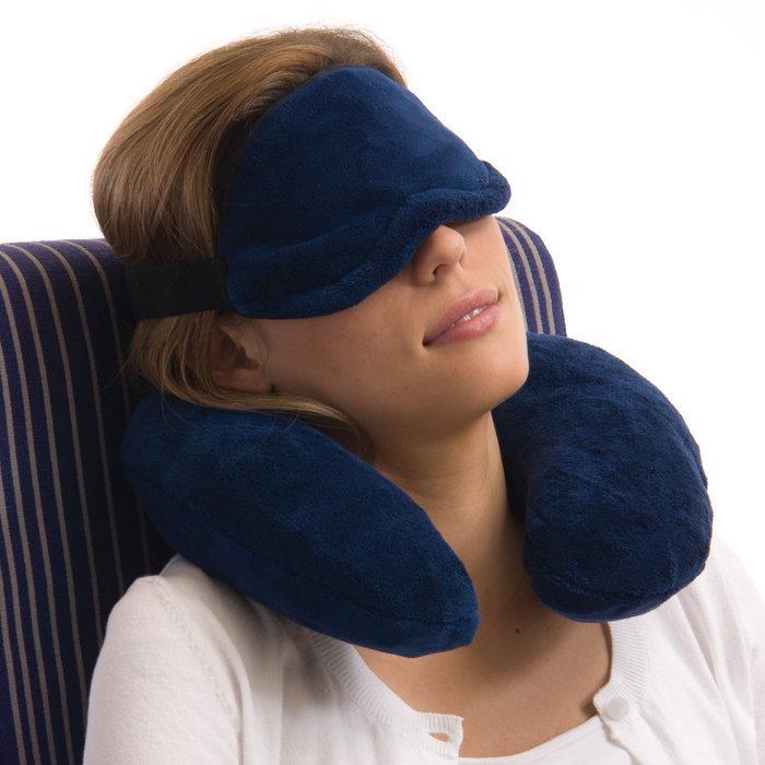Neck pillow eye mask set