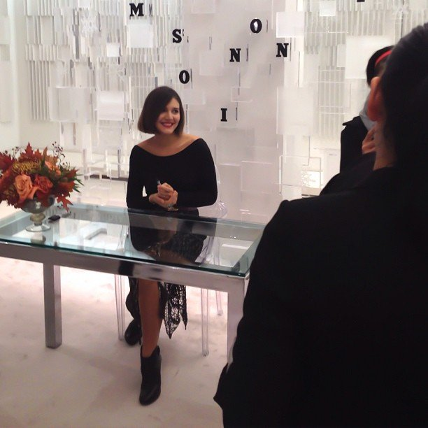 Margherita Missoni greeted fans at a Holt Renfrew event. Source: Instagram user sashaexter