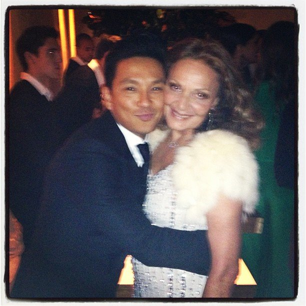 Prabal Gurung and Diane von Furstenberg shared a hug. Source: Instagram user prabalgurung