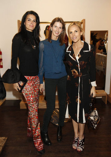 Angie Harmon, Elizabeth Lindemann, and Tory Burch