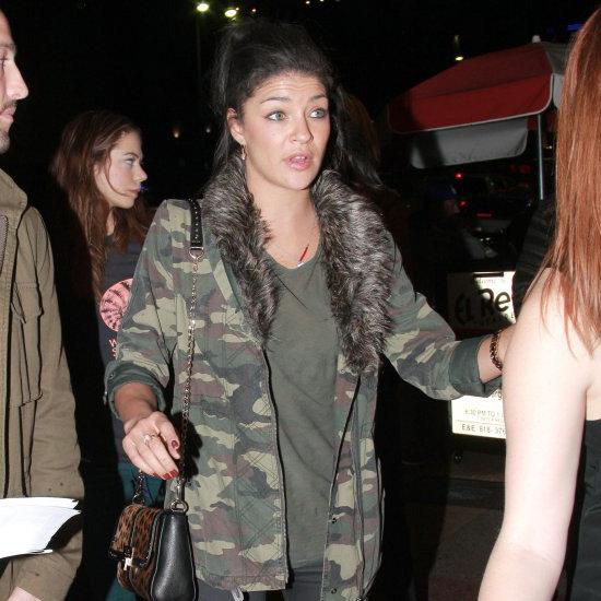 Jessica Szohr Wearing Camouflage Jacket