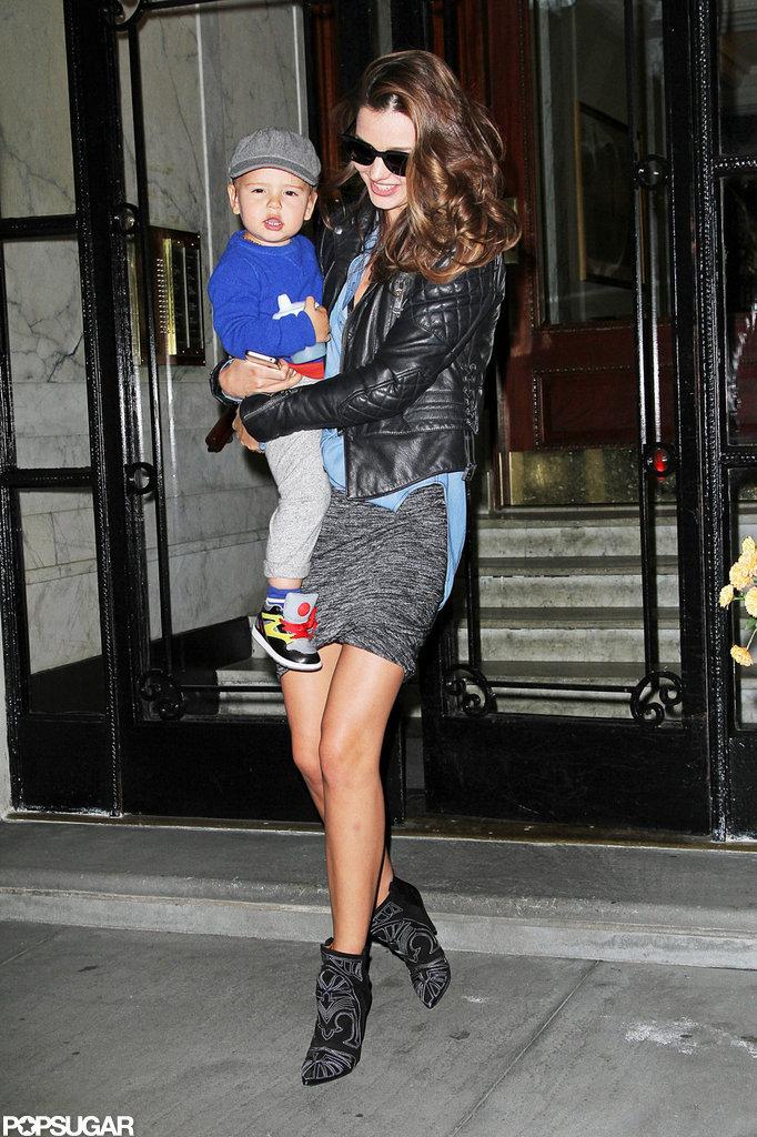 Miranda Kerr Has a Smiley Date Night With Flynn Bloom