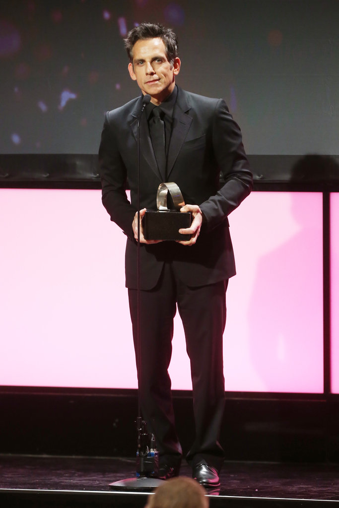 Ben Stiller was on stage in LA to accept his award.