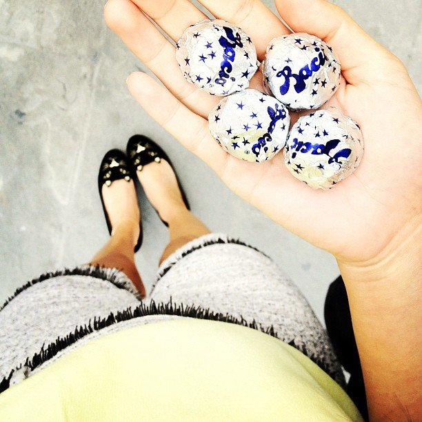 Gary Pepper Vintage's Nicole Warne rediscovered her love of Baci kisses. Source: Instagram user garypeppergirl