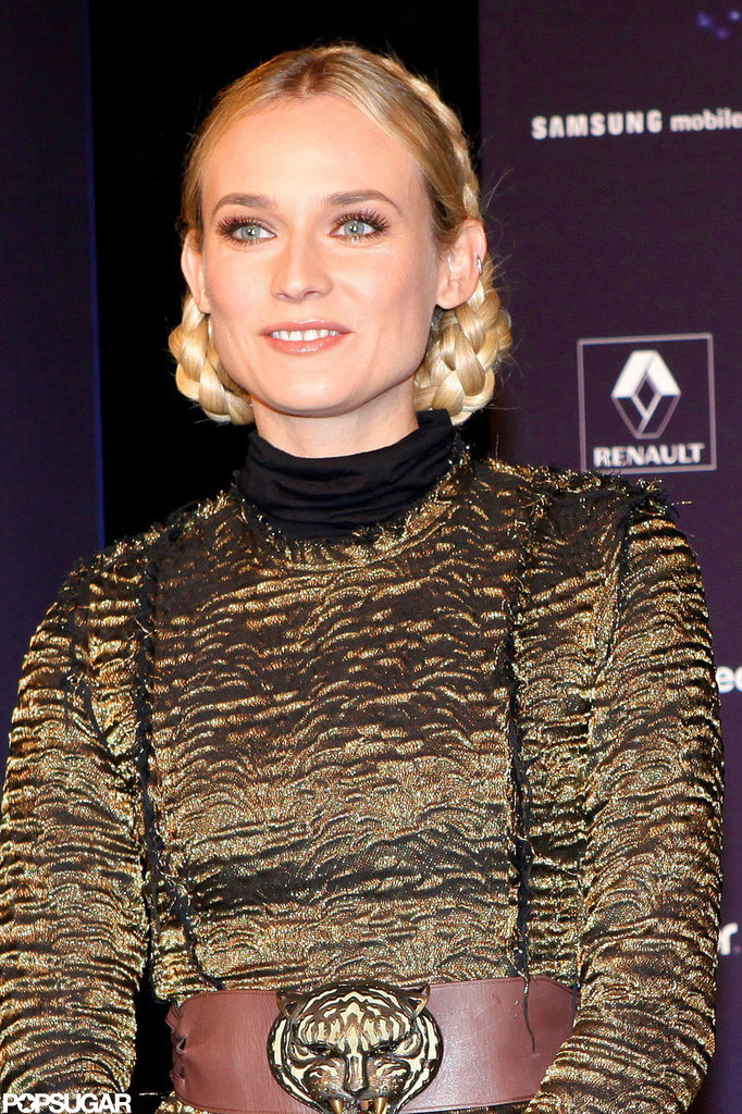 Diane Kruger was in Paris for the Christmas lights.