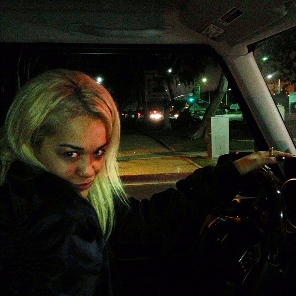Rob Kardashian snapped a photo of his girlfriend, Rita Ora. Source: Instagram user robkardashian