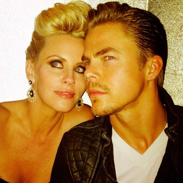 Jenny McCarthy hung out with Derek Hough after the show. Source: Instagram user derekhough