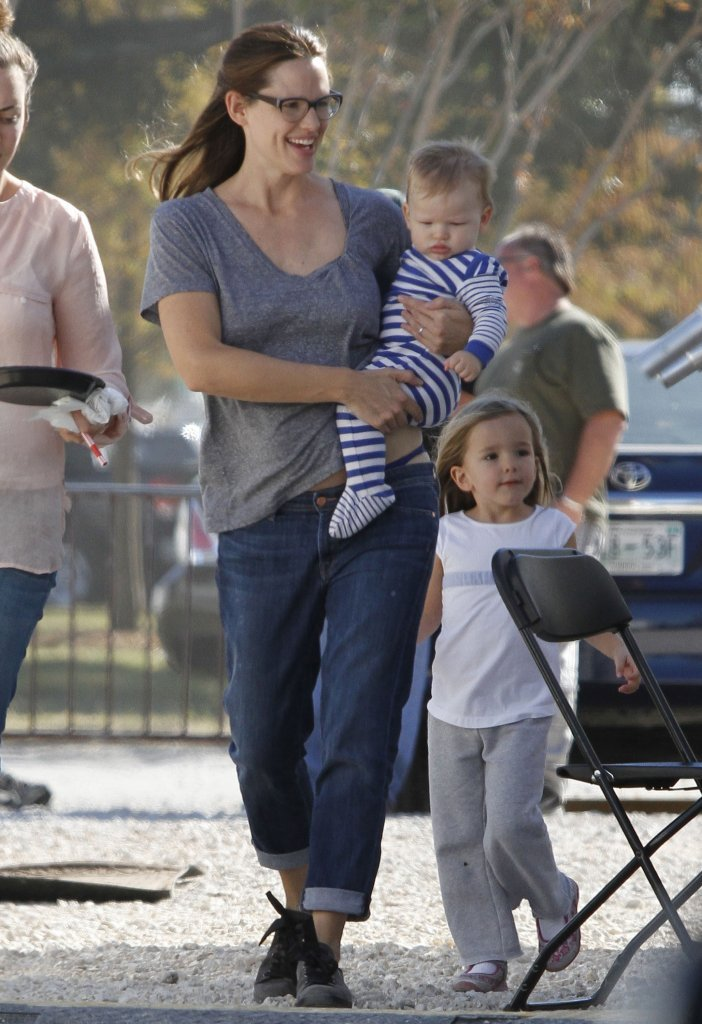 Jennifer Garner had Samuel and Seraphina on the set of The Dallas Buyer's Club in New Orleans with her in November 2012.