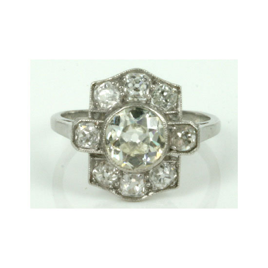 Vintage diamond ring, $9,250, Kalmar Antiques