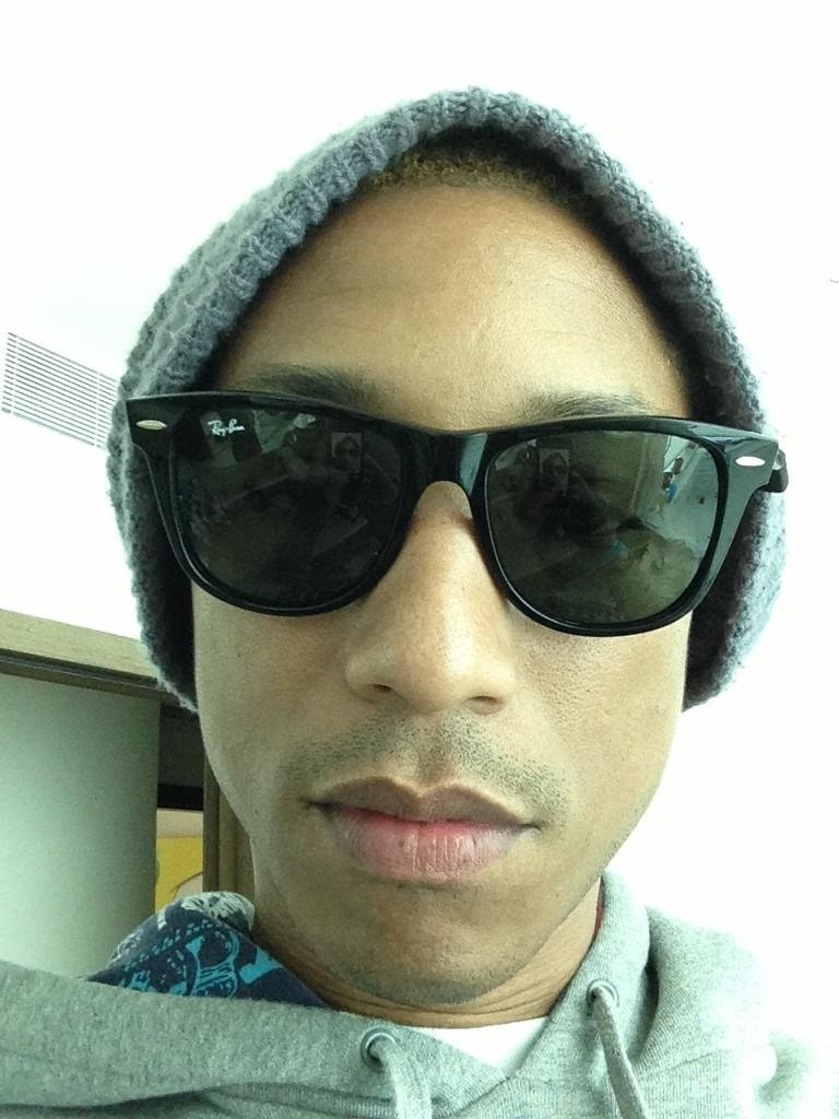 Pharrell shared a photo after spending a long night in the studio. Source: Twitter user Pharrell