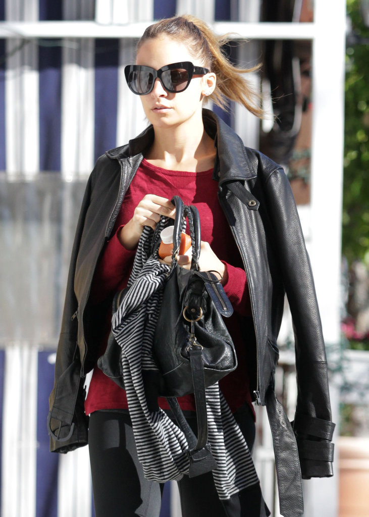 Nicole Richie arrived at her gym.
