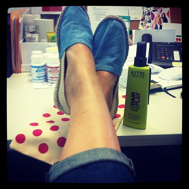 Alison scored some cute Gorman espadrilles along with her KMS sea salt spray. Summer, anyone?