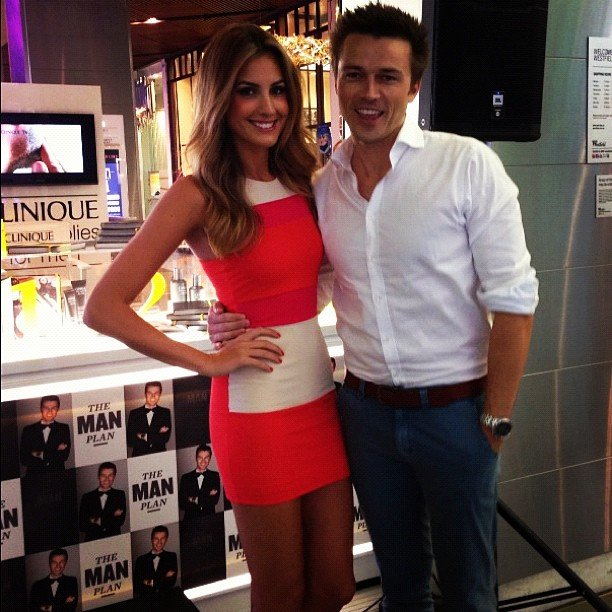 Laura Dundovic supported her boyfriend James Kerley at the pre-launch of his book. Source: Instagram user lauradundovic
