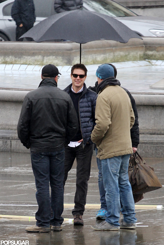 Tom Cruise chatted on set in London.