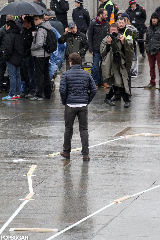 Tom Cruise filmed on set in London.