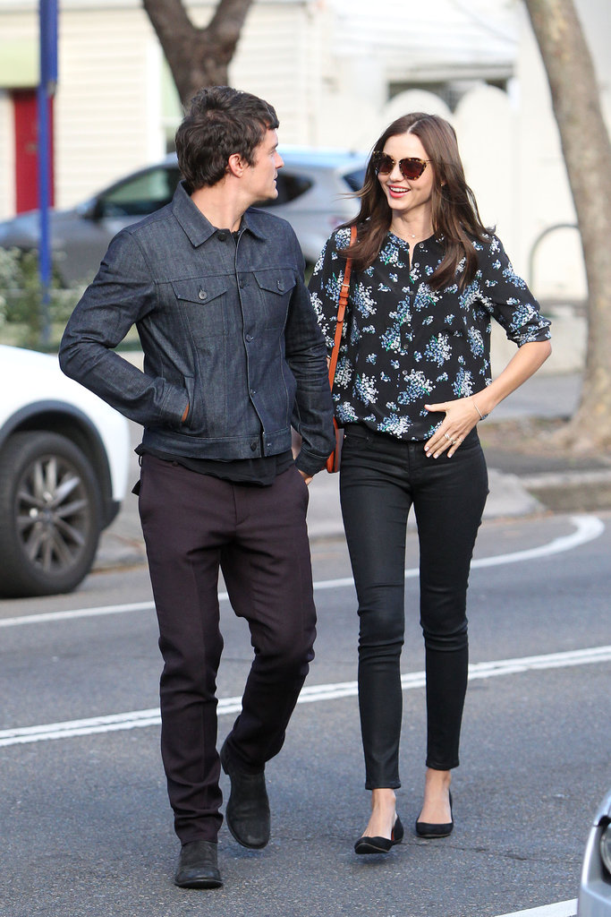 The first time we say Miranda in her Miu Miu's was whilst she was in town for the David Jones Spring/Summer fashion launch. This was snapped after a lunch date with her hubby Orlando in August.