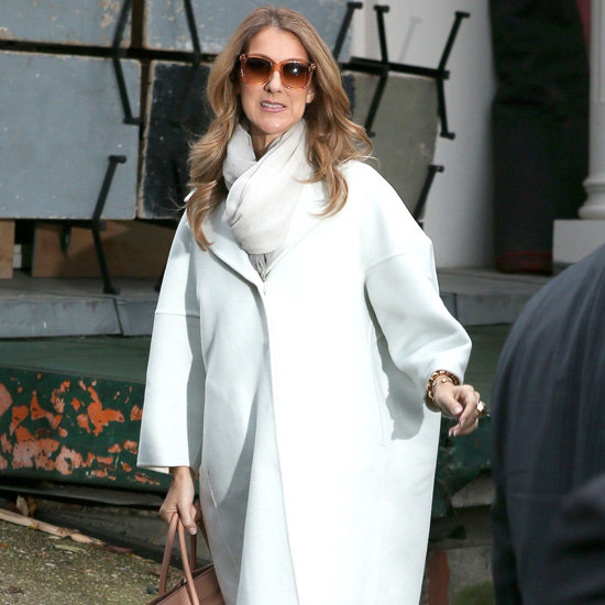 Celine Dion Wearing White Coat