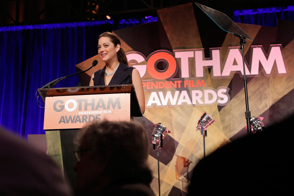 Marion Cotillard got up to the podium.