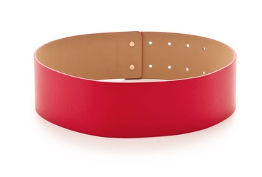 Red is a majorly festive hue, so this Diane von Furstenberg leather belt ($185) would look amazing against all your LBDs.