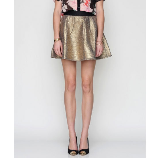 It's tempting to go for all-out sparkles, but I'm resisting the urge to buy a fully-sequinned number for something a that's still festive but a little more restrained. This metallic skirt will be great to eat and dance in, but I can also wear it all year round. — Jess, PopSugar editor Skirt, approx $58, Need Supply Co.