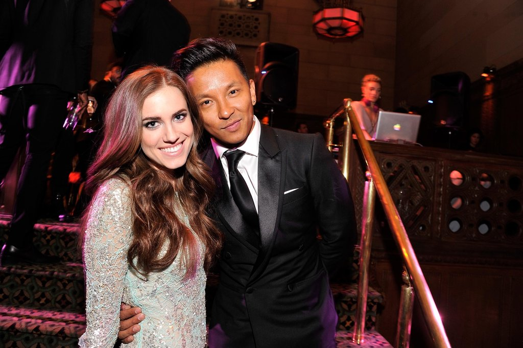Allison Williams and Prabal Gurung smiled at the Unicef Snowflake Ball in NYC.