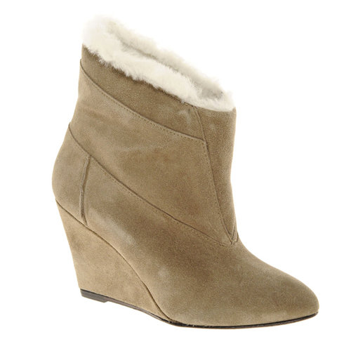 Stay cozy all season long in these IRO Faux Shearling Lined Ankle Boots ($362, originally $802).