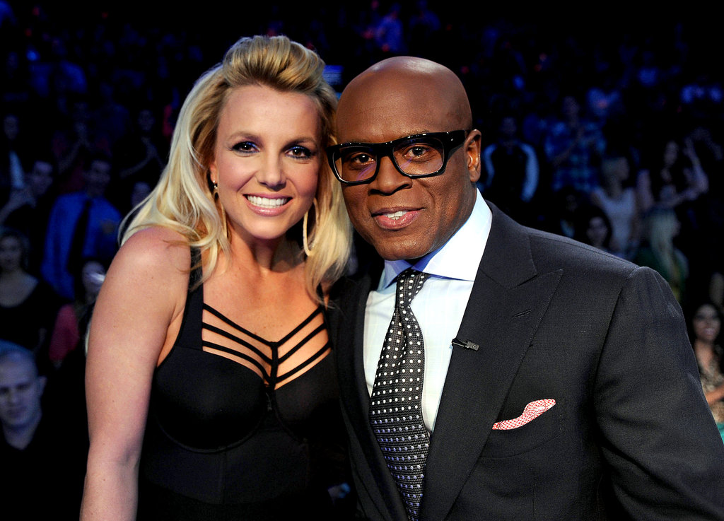 Britney Spears posed for a photo with L.A. Reid.