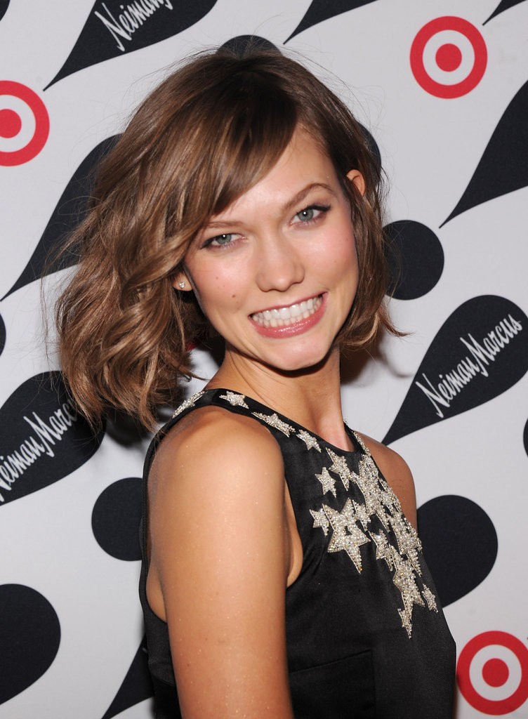 Karlie Kloss smiled at the Target and Neiman Marcus Holiday Collection party in NYC.