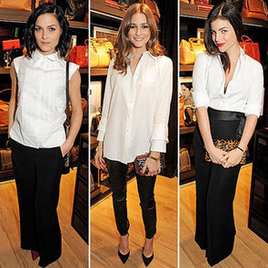 Celebs Style up Carlina Herrera's White Shirt Collection