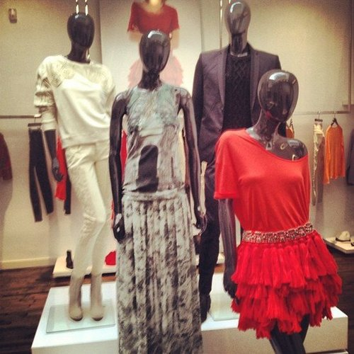 It was all color, frills, and embellishment at a preview for H&M Spring '13.