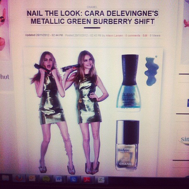 Alison's currently harbouring a not-so-secret girl crush on model Cara Delevingne. Behold, a tribute.