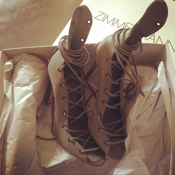 Zimmermann delivery! Ali can't wait to get these pretty heels out in summer!