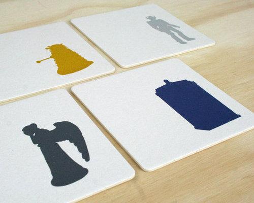 Doctor Who Letterpress Coaster Set
