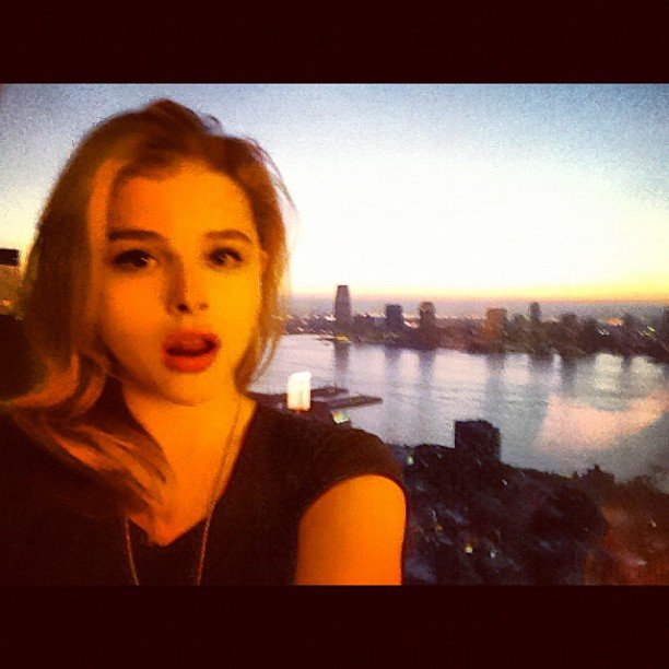 Chloe Moretz captured a photo of her view. Source: Instagram user cmoretz