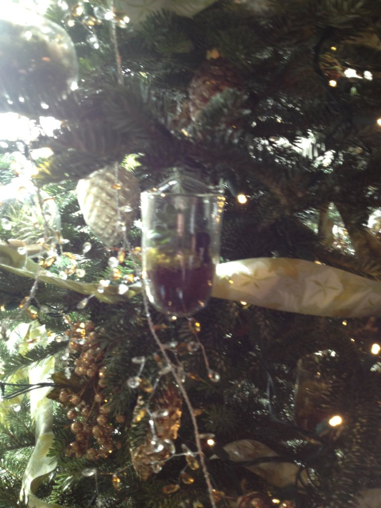 A closer look at one of the terrarium ornaments in the green room.